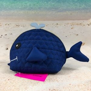Betsey Johnson Whale Quilted Cosmetics Case